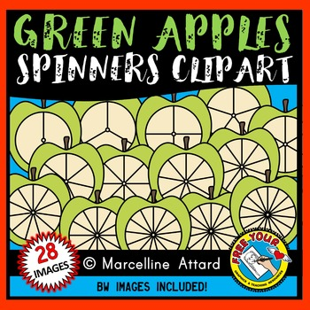 APPLE SPINNERS CLIPART BUNDLE: BACK TO SCHOOL CLIPART