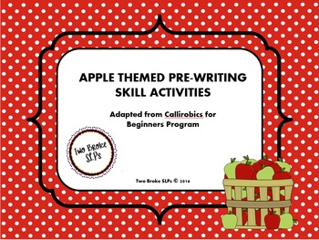 Apple Themed Pre-Writing (Callirobics) Activities