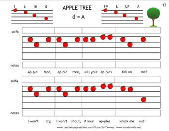 APPLE TREE - For beginning violin Suzuki Pre-twinklers