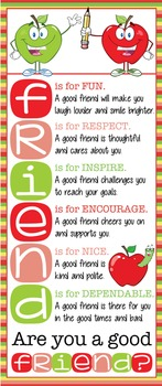 APPLE theme - Classroom Decor: LARGE BANNER, FRIENDS