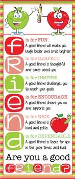 APPLE theme - Classroom Decor: LARGE BANNER, FRIENDS