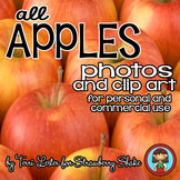 Photos Photographs APPLES and Clip Art Personal and Commercial Use