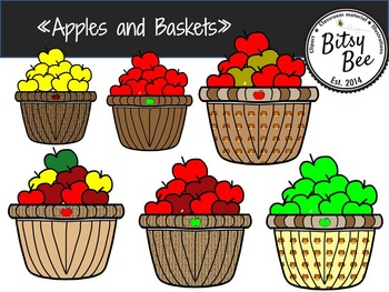 APPLES AND BASKETS CLIP ART.