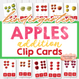 APPLES Preschool Addition Flash Cards Math Activity and Printable Worksheet