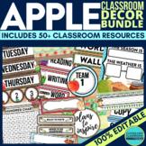APPLE THEMED Classroom Decor EDITABLE