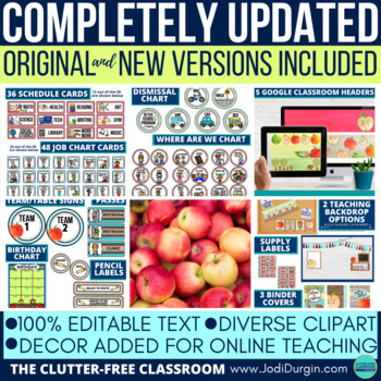 APPLE THEMED Classroom Decor EDITABLE