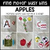 APPLES Fine Motor Busy Bins (morning work tubs) for Preschool, Pre-K