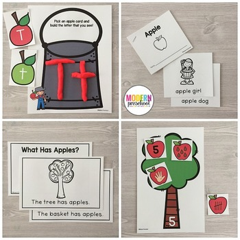 APPLES Literacy & Match Centers (Preschool, PreK, Kindergarten)