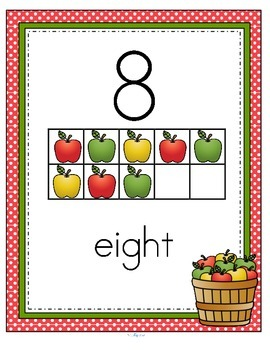 APPLES Number Posters FREE