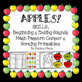 APPLES! Beginning / Ending Sounds,  Pattern and Sorting Centers