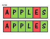 APPLES game, Back to school therapy activity or ice-breaker!