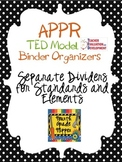 Editable APPR TED Binder Dividers (Teacher Evaluation Development) NYSUT Rubric