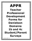 Danielson Evaluation Data Interpretation Form-Student/Parent Student Surveys