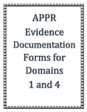 UPDATED 10/18 : APPR Editable Danielson Documentation Forms for Domains 1 and 4