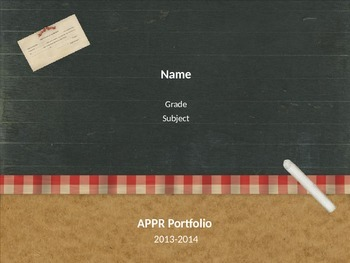 APPR Presentation Template for Danielson Rubric Domain 4