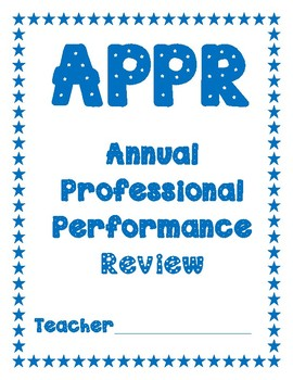 APPR Professional Development Binder dividers and cover sheet