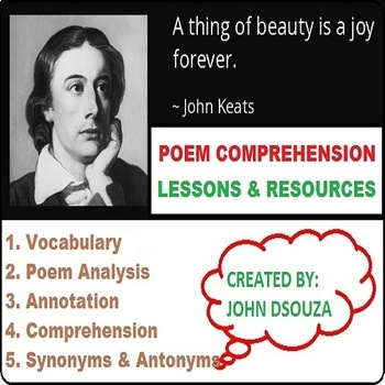 A THING OF BEAUTY - POEM COMPREHENSION: LESSONS & RESOURCES