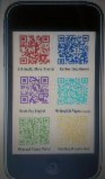 """""""APP""""ly Yourself cell phone poster w/ QR codes for ESOL (Reading, Writing, Gram)"""