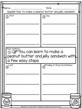 APRIL 4-Square Writing Organizers & Papers for Beginning Writers K-2