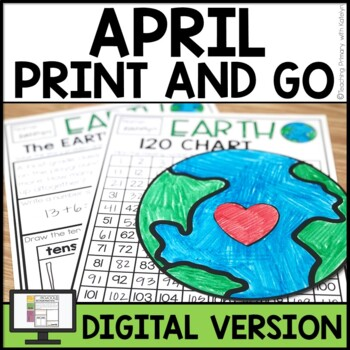 APRIL Activities For First Grade NO PREP