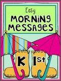 Kindergarten and 1st April Morning Work