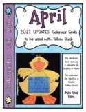 APRIL Calendar Grid 2021
