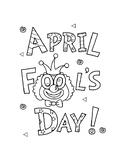 APRIL FOOLS DAY COLORING, BUNDLE 14 PAGES, APRIL FOOLS DAY