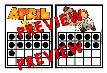 APRIL FOOLS DAY KINDERGARTEN MATH COUNT THE ROOM (NUMBERS 11-20)
