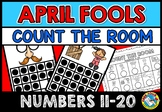 APRIL FOOLS DAY ACTIVITY KINDERGARTEN MATH COUNT THE ROOM (NUMBERS 11-20)