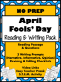 APRIL FOOLS DAY {TEST PREP} Reading, Writing, STEM, Teacher Prank