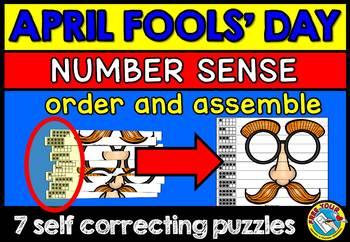 APRIL FOOLS KINDERGARTEN NUMBER SENSE PUZZLES (MINI CENTER) APRIL FOOLS DAY