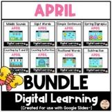 APRIL - Literacy & Math Fun {Google Slides™/Classroom™}