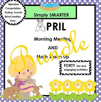 APRIL MORNING MEETING AND MATH WARM UP BUNDLE