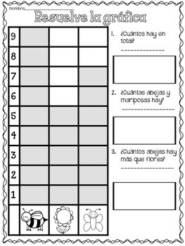 APRIL Math Practice in Spanish FIRST GRADE