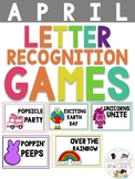 APRIL Monthly Alphabet Letter Recognition Games
