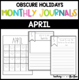 APRIL: Monthly PRINT & GO Foldable Writing Journals: Obscu