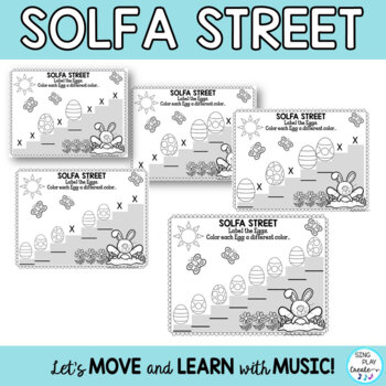 April Music Class Composition and Music Symbol Worksheets K-6
