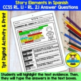 APRIL READING COMPREHENSION: STORY ELEMENTS IN SPANISH