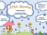 APRIL Rhyming Bingo Activity
