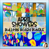 April Showers Bring May Flowers Raindrop Writing Craft BULLETIN BOARD Set