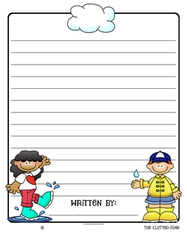 APRIL SHOWERS - RAIN: A differentiated writing resource for grades K-5