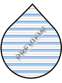 APRIL SHOWERS RAINDROP WRITING TEMPLATE 2 formats kindergarten 1 2 3 AWESOME!!!