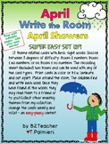 APRIL SHOWERS! - Write the Room - Sight Words - EASY & EDITABLE