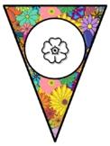 APRIL VOCABULARY SHOWERS! April Bulletin Board Pennant Let