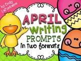 APRIL Writing Prompts (30 count) - task cards and posters *Easter*