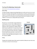 APStatistics Midyear Review: You Sunk My Battleship!