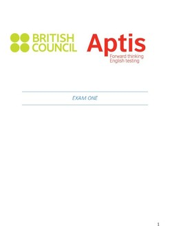 APTIS Speaking Questions and Answers