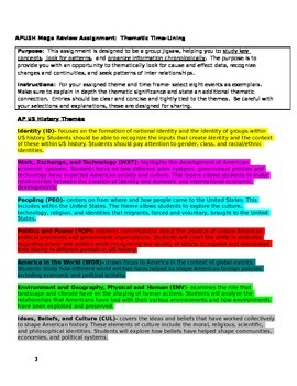 APUSH- 2015 Revised Exam Review- Thematic Timelining
