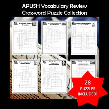 APUSH AP U S History Vocabulary Crossword Puzzle Bundle
