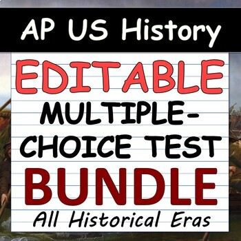 APUSH AP US History Multiple Choice Test Super Pack Units 1 9 Period 1 9